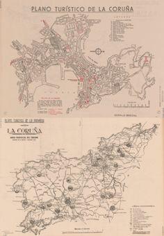 A Coruña Mapa Turistico.Plano Turistico De La Coruna In Earthworks