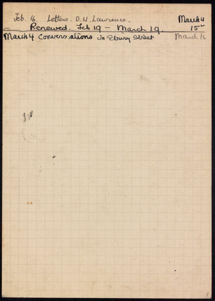 Leon Edel 1937 card