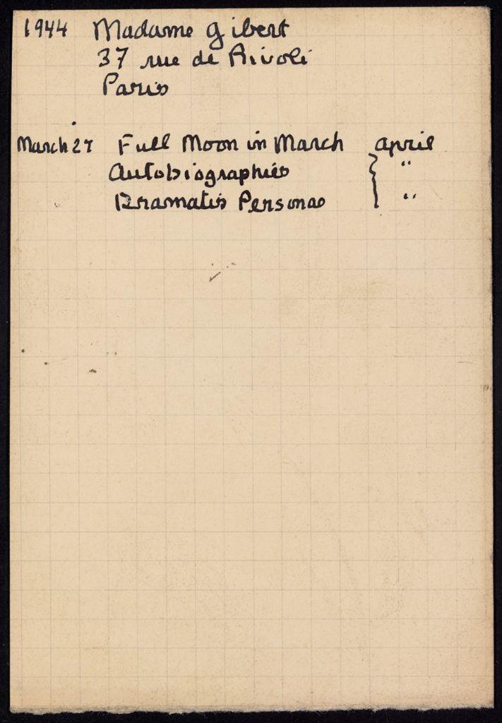 Madeleine Gibert 1944 card (large view)