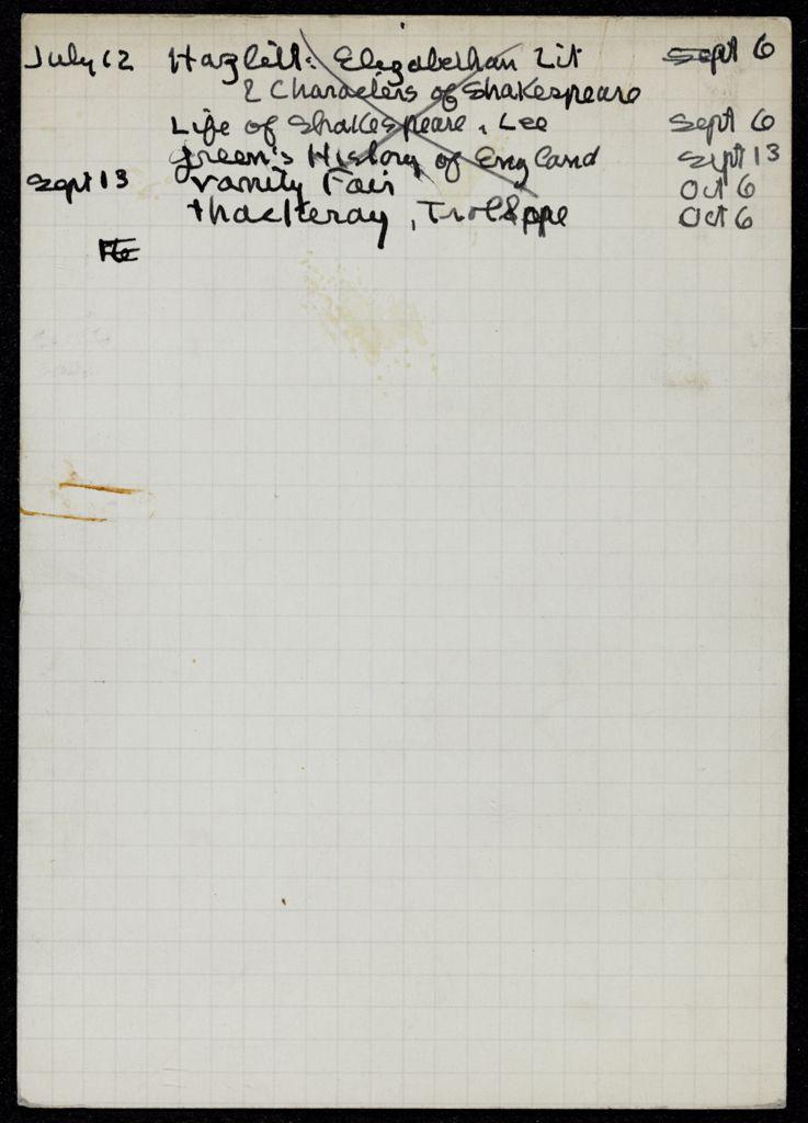Tamara van den Bergh 1934 card (large view)
