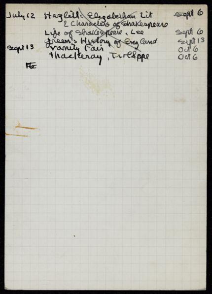 Tamara van den Bergh 1934 card