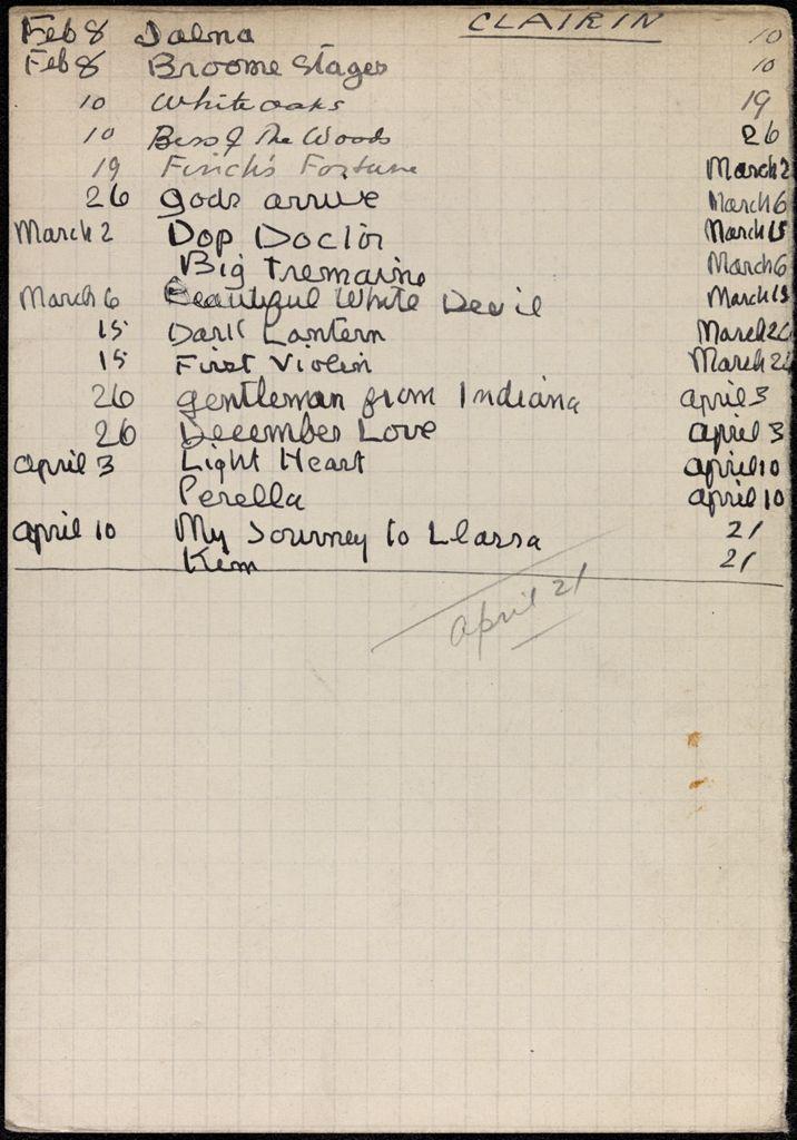 Theresa Clairin 1934 card (large view)