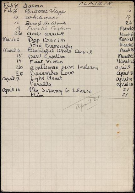 Theresa Clairin 1934 card
