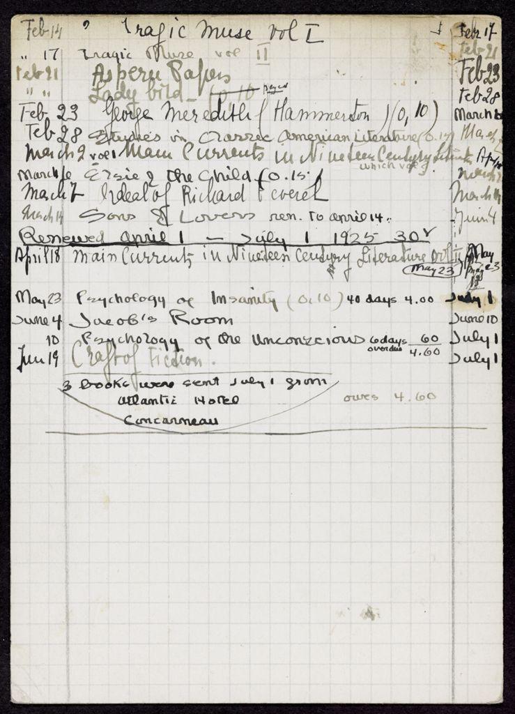 George Stevens 1925 card (large view)