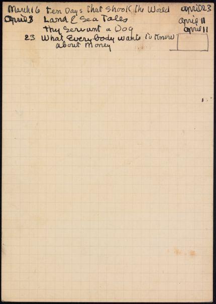 Mrs. Perkins 1934 card