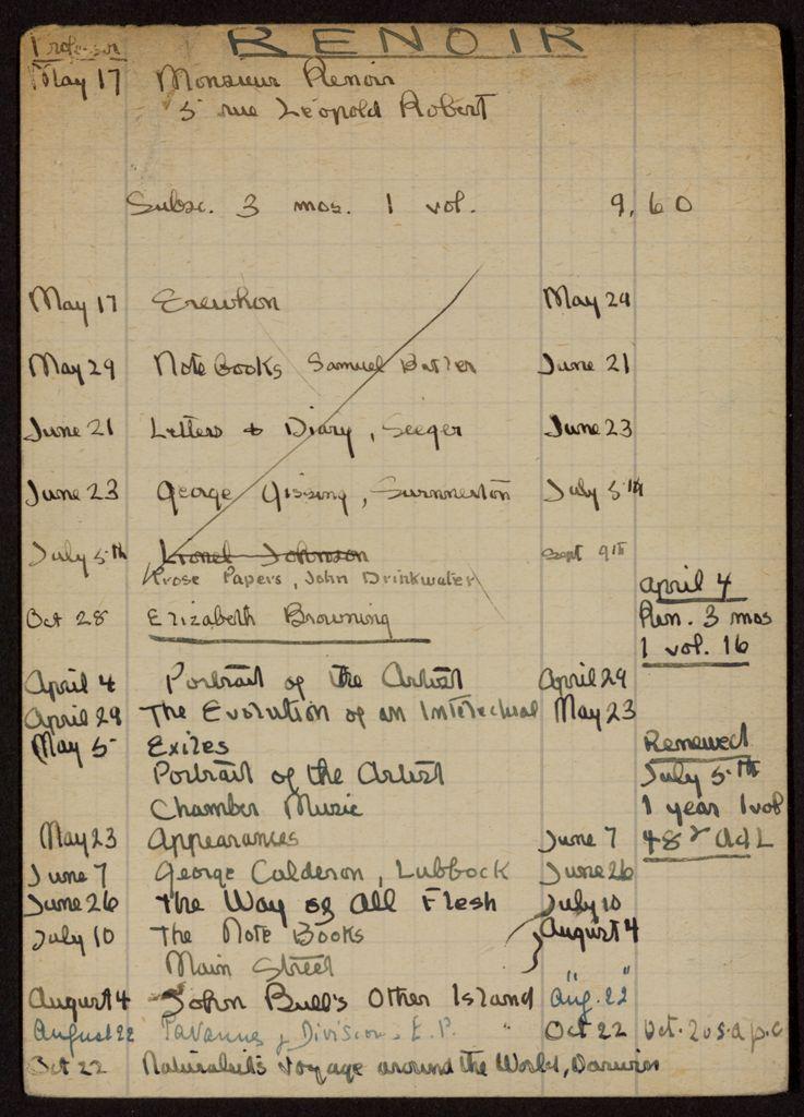 Edmond Renoir 1920 – 1922 card (large view)