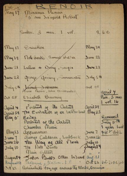 Edmond Renoir 1920 – 1922 card