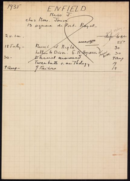 J. Enfield 1935 card
