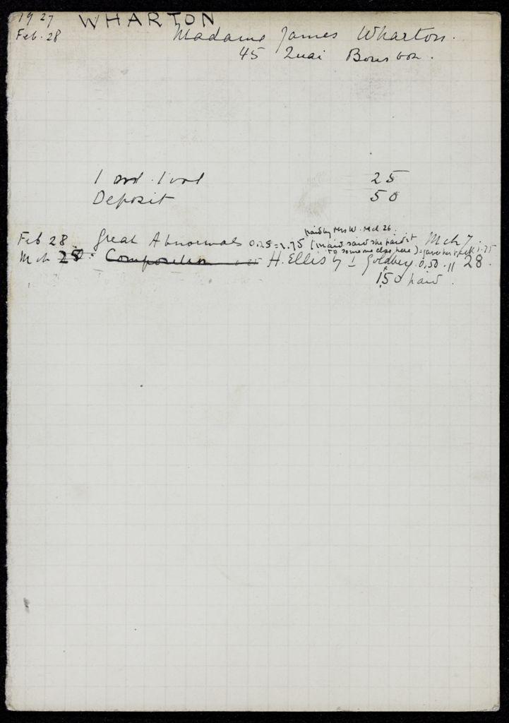 Mme James Wharton 1927 card (large view)