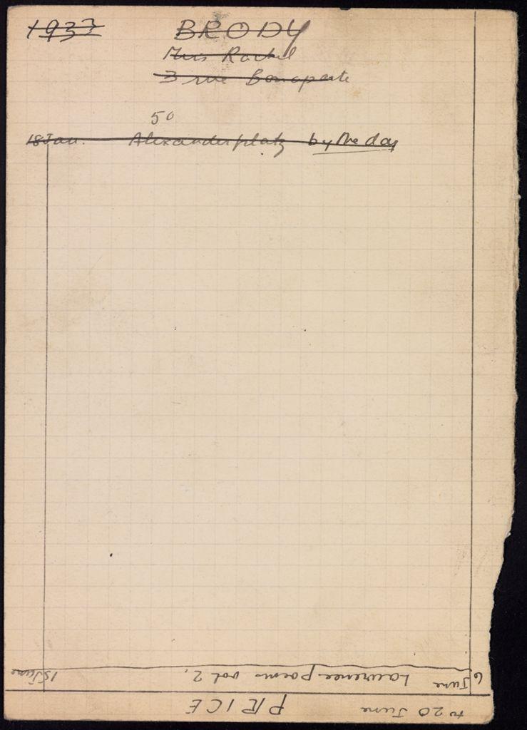 Rachel Brody 1933 card (large view)