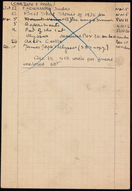 E. Harden 1941 card