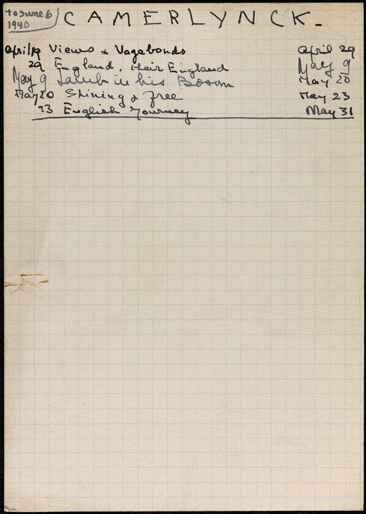 Gabrielle Camerlynck-Guernier 1940 card (large view)