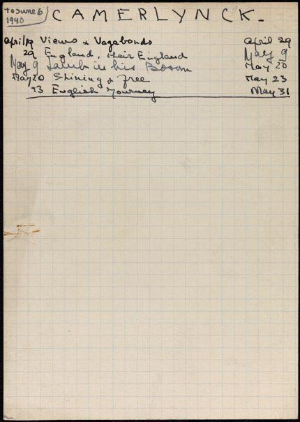 Gabrielle Camerlynck-Guernier 1940 card