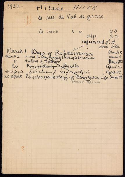 Hilaire Hiler 1934 card