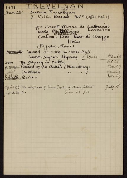 Julian Trevelyan 1931 card
