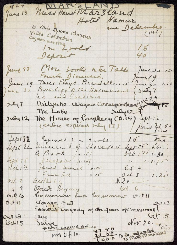 Harriet Marsland 1924 card (large view)