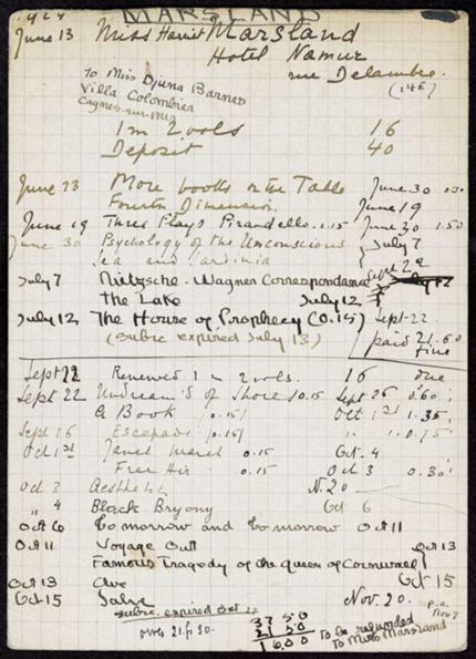 Harriet Marsland 1924 card