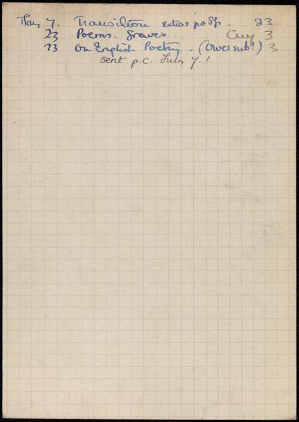Dollie Chareau 1936 card