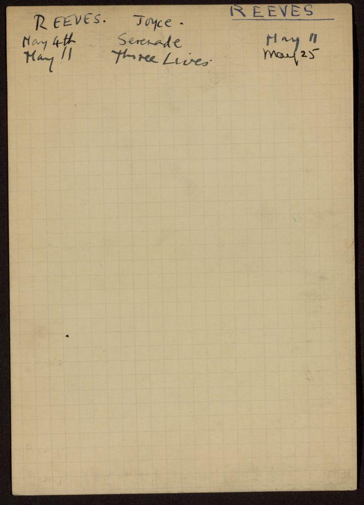 Joyce Reeves 1938 card (large view)
