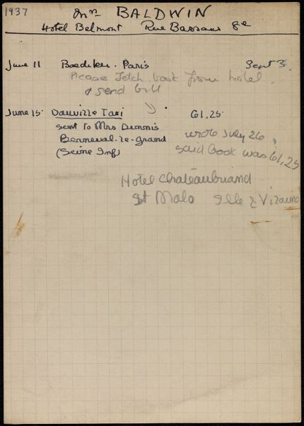 Helen Baldwin 1937 card