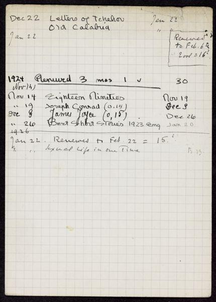 Robert W. Service 1923 – 1926 card
