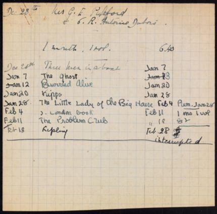 G. E. Pulsford Unknown card