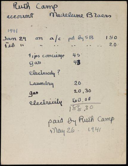 Ruth Camp Blank card