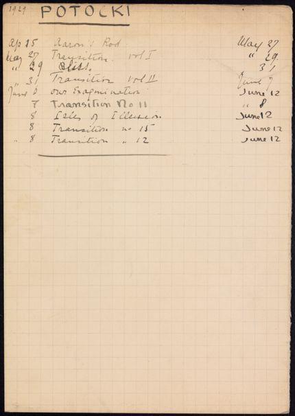 Geoffrey Potocki de Montalk 1929 card