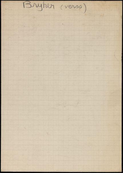 Bryher Blank card