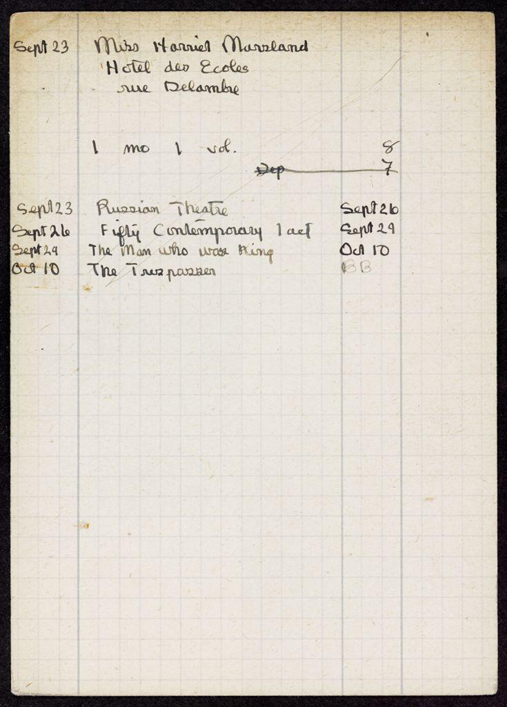 Harriet Marsland 1921 card (large view)