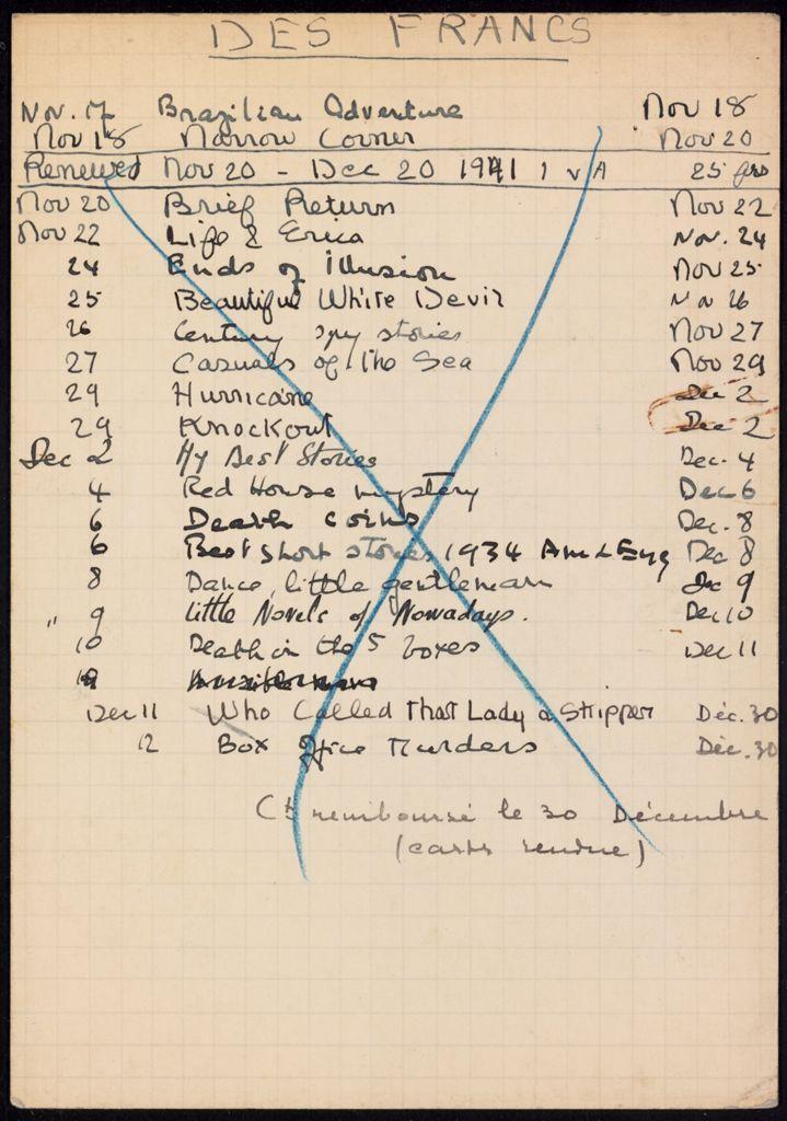 Commandant des Francs 1941 card (large view)