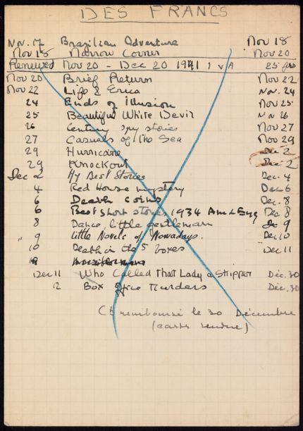 Commandant des Francs 1941 card