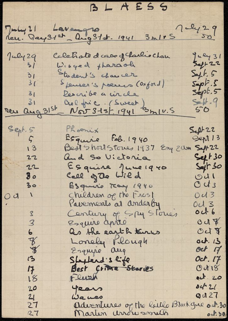 Madeleine Blaess 1941 card (large view)