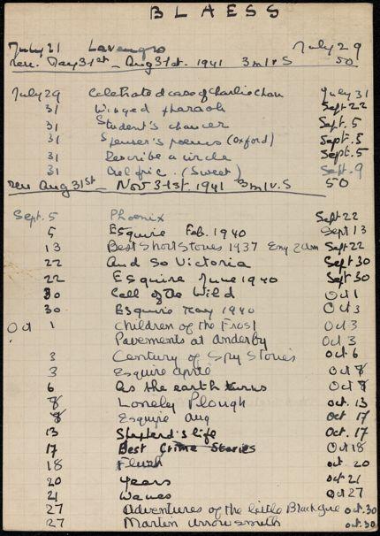 Madeleine Blaess 1941 card