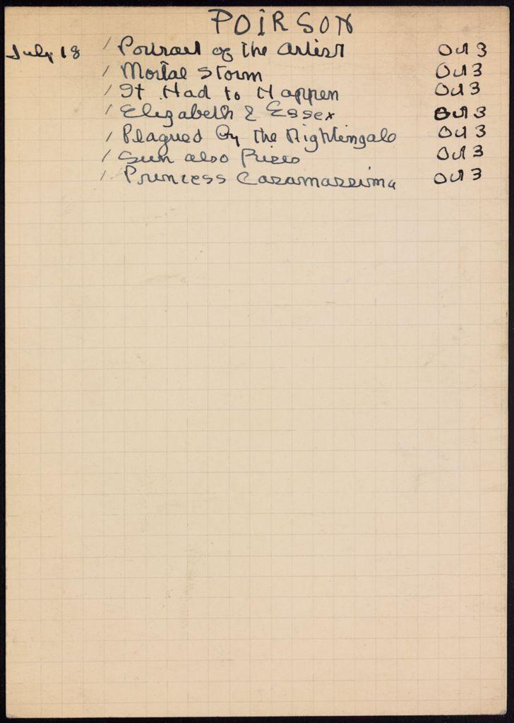 Christine Poirson 1939 card (large view)