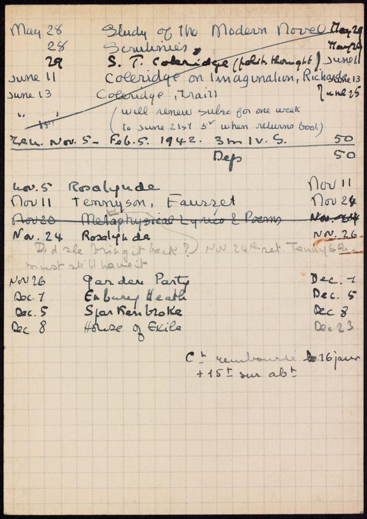 Denise Lafoy 1941 – 1942 card (large view)