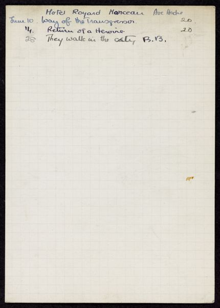 Penny Ybarra 1936 card