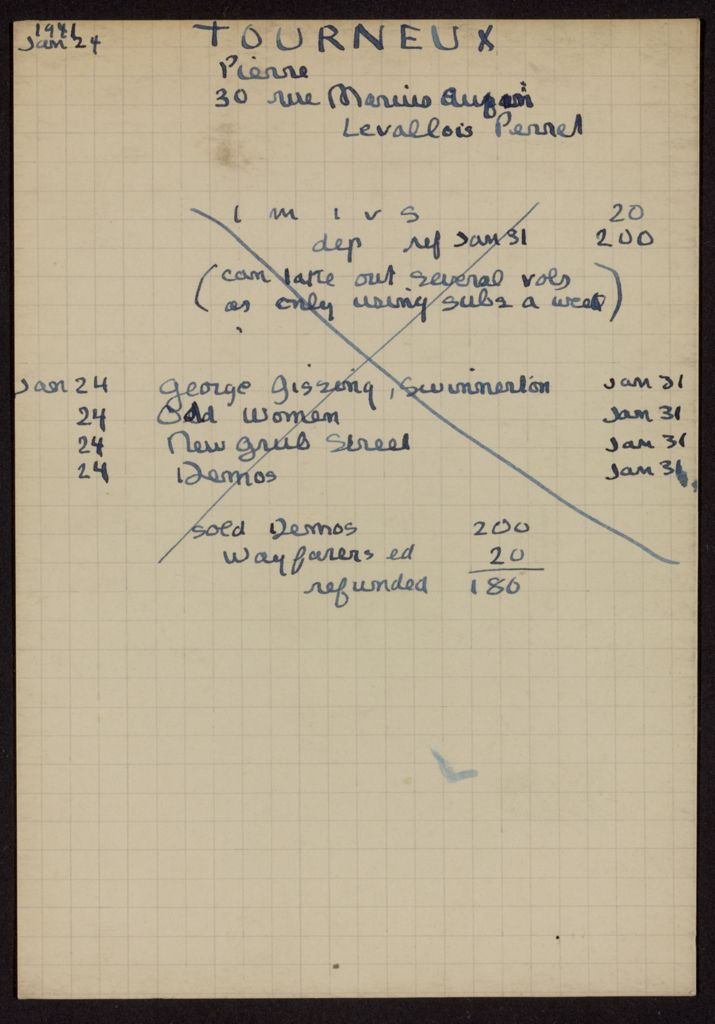 Pierre Tourneux 1941 card (large view)