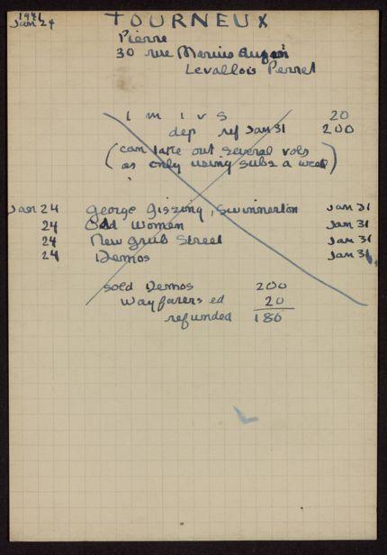 Pierre Tourneux 1941 card