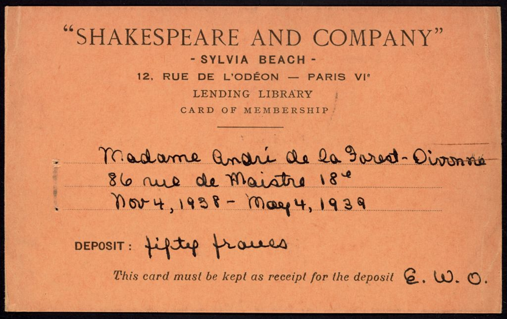 André de la Forest-Divonne Blank card (large view)