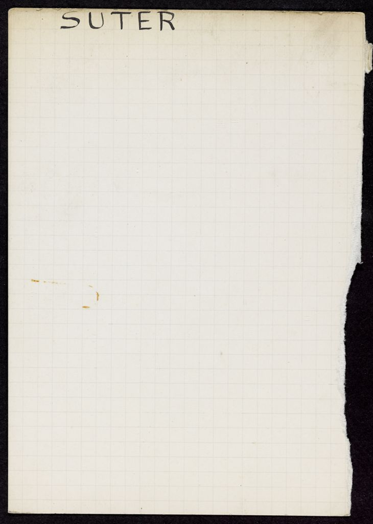 G. V. Suter Blank card (large view)