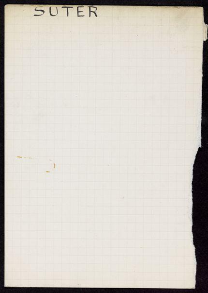 G. V. Suter Blank card