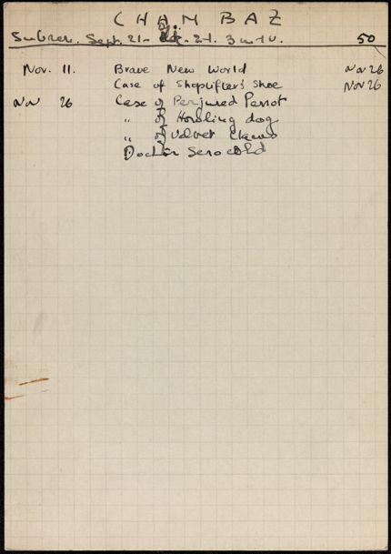 Marcel Chambaz 1941 card