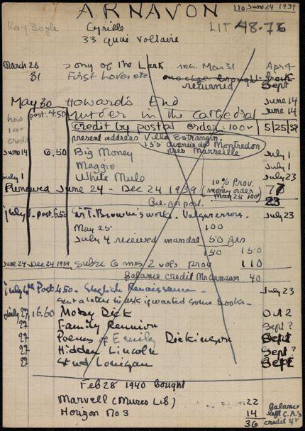 Cyrille Arvanon 1939 – 1940 card
