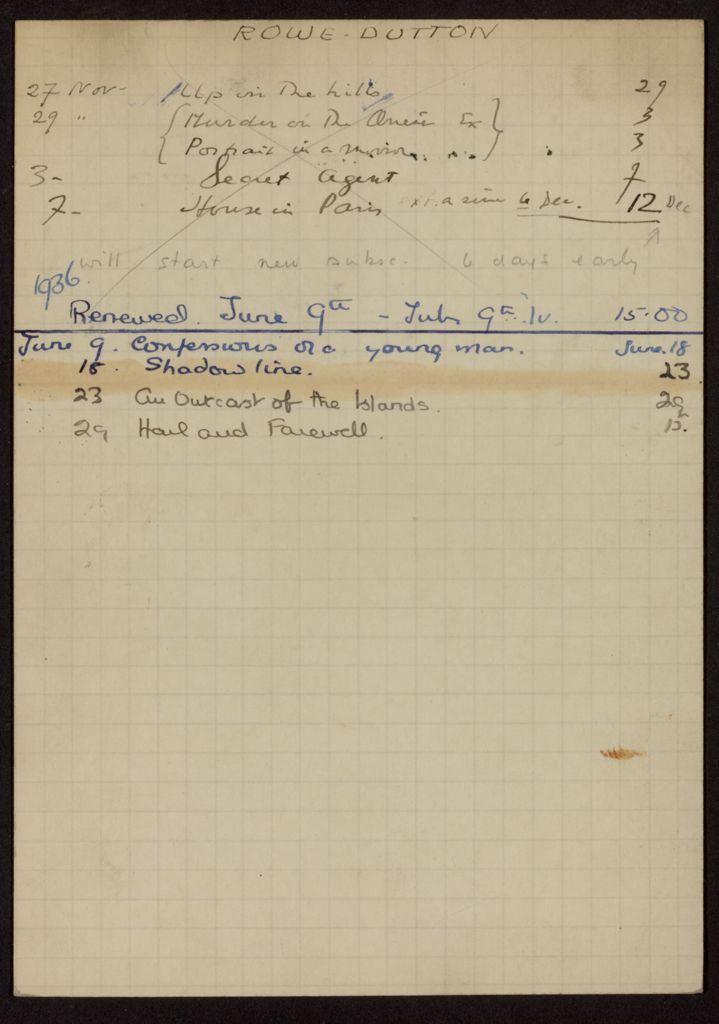 Gwen Rowe-Dutton 1935 – 1936 card (large view)
