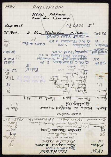Philipson 1934 card