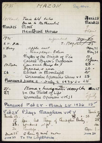 Mme Mazon 1935 – 1936 card