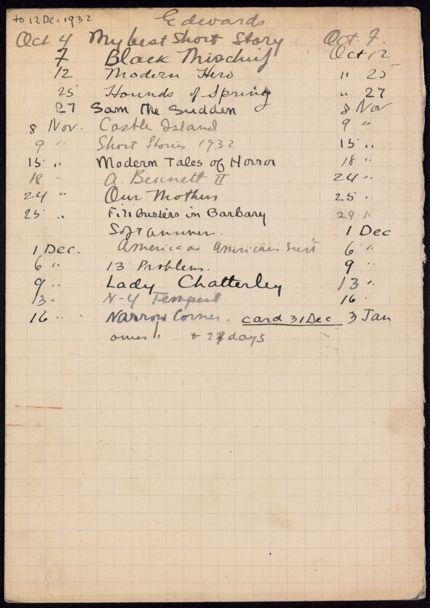 Thomas Edwards 1932 – 1933 card
