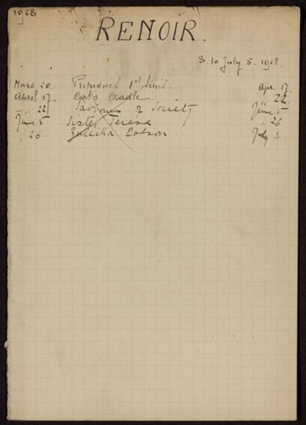Edmond Renoir 1928 card