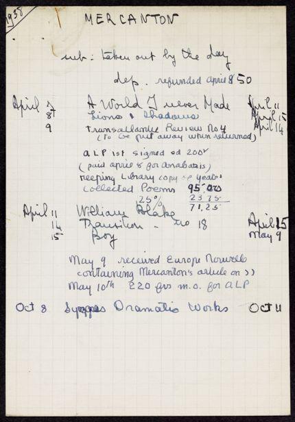 Jacques Mercanton 1938 card